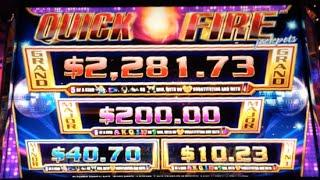 QUICK FIRE JACKPOTS (Electric Boogaloo)   Aristocrat - Major Progressive Win Slot Machine