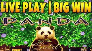 BIG WIN! WILD PANDA GOLD Slot Machine Live Play and Bonus