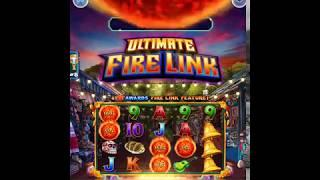 """ULTIMATE FIRE LINK Video Slot Casino Game with a """"HUGE WIN FIRE LINK BONUS"""
