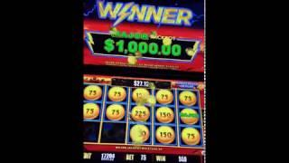 $1000 MAX Major Jackpot Lightning Link Hold & SPIN Bonus Round Slot Machine