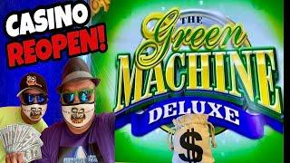 ★ Slots ★GREEN MACHINE DELUXE SLOT★ Slots ★MAX BET WIN! EXCITING FIRST DAY CASINO REOPENING!★ Slots