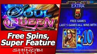 Soul Queen Slot - First Attempt, Free Spins Bonus and Super Feature Free Games