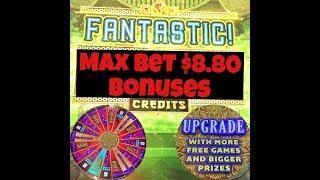 • Max Bet $8.80 •  8 Petals Slot Machine Bonuses • Big Wins & Bonuses •