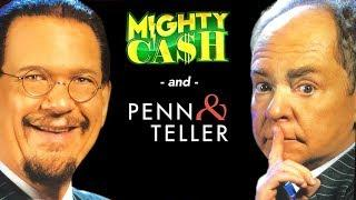 Penn & Teller FIRST SPIN BONUS • HIGH LIMT MIGHTY WIN with Mighty Cash • The Slot Cats •