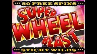 Aristocrat - Super Wheel Blast - 50 Free Sticky Wilds Spins