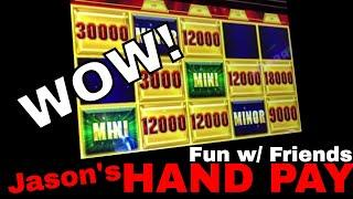 • HIGH LIMIT Group Pull & Jason's HAND PAY Bonus! • • Slot Machines w Brian Christopher