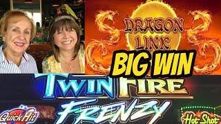 BIG WIN DRAGON LINK & A TWIN FIRE FRENZY WITH MOM