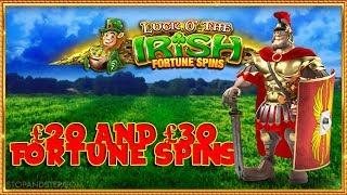 Luck O the Irish £20 and Centurion £30 Fortune Spins