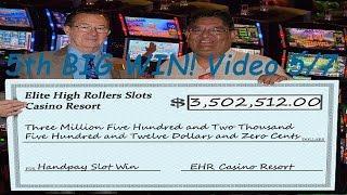•Jackpot $3.5 Million Dollar Handpay Jackpot 5/7 Vegas High Roller Video Slot Machine, WMS • SiX Slo