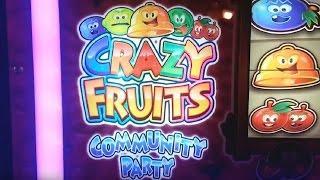 Crazy Fruits Community Party Fruit Machine - Crazy Streaks and Jackpots - Longplay