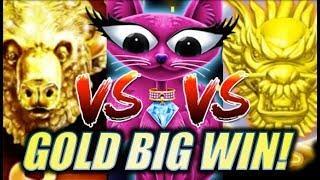 •BATTLE OF THE GOLDS! BIG WIN!!• MISS KITTY GOLD | BUFFALO GOLD | 5 DRAGONS GOLD Slot Machine Bonus