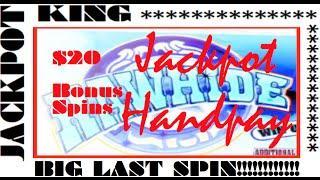 $20 Bonus *JACKPOT HANDPAY* RAWHIDE SLOT MACHINE