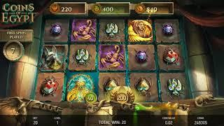 Coins of Egypt slots - 560 win!