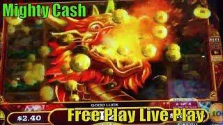 •MIGHTY CASH•FREE PLAY Slot Live ! How was result on FP?•Long Teng Hu Xiao Slot machine•彡San Manuel栗