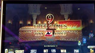 $1000 Live Play at Lightning Link Sahara Gold Slot Machine, Long Play With Bonuses!!!!! 3 Bonuses