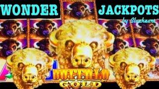 BUFFALO GOLD slot machine PROGRESSIVE JACKPOT and HUGE BONUS WIN! (WONDER 4 JACKPOTS)