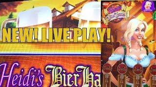 NEW GAME! Heidi's Bier Haus Slot Machine Bonus-LIVE PLAY