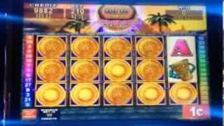 Konami- MAYAN CHIEF slot machine 550+ free spins BONUS WIN
