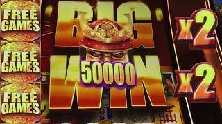 MASSIVE JACKPOT on WILD WILD SAMURAI SLOT MACHINE! 30,000 SUBSCRIBER THANK YOU!