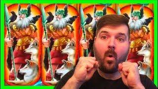 BIGGEST WIN ON YOUTUBE • on Valkyrie Legends Slot Machine •Big Win Bonuses W/ SDGuy1234