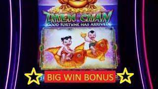 •BIG WIN• Zhen Chan Slot Machine Bonus Win !!!! Live Play
