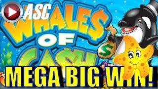 • MEGA BIG WIN! • WHALES OF CASH | MAX BET! Slot Machine Bonus (Aristocrat)