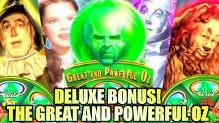 DELUXE BONUS! HOW GREAT WAS THE GREAT & POWERFUL OZ!? NEW EMERALD CITY Slot Machine (SG)