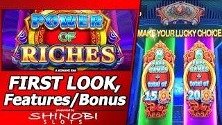 Power of Riches Slot - First Attempt, New Slot w/Live Play, Progressives and Free Spins