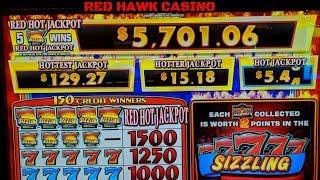 NEW GAME *Sizzling 7's RED HOT JACKPOTS* Live play & Bonuses!!