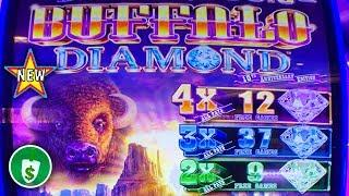 •️ New - Buffalo Diamond slot machine, 2 Bonuses