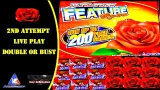 (Double or Bust) Aruze - Untra Stack Feature Rose : Live Play