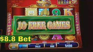 88 Fortunes Slot Machine Bonus and Pick Jackpot Bonus Win !!! $8.8 Max Bet Live play