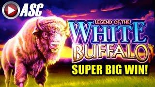 *SUPER BIG WIN!* LEGEND OF THE WHITE BUFFALO | Slot Machine Bonus (Cadillac Jack / AGS)