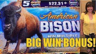BIG WIN! AMERICAN BISON-RE-TRIGGERS!