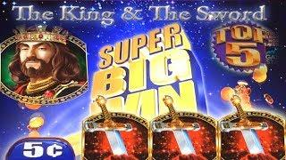 $25 BET - 2 BIG WINS + LIVE PLAY + BIG BONUS = FUN!!! The King and the Sword HIGH LIMIT Slot Machine