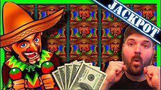 FIRST TO YOUTUBE! JACKPOT HAND PAY on Jumpin' Jalapeno Jackpots Slot Machine W/ SDGuy1234