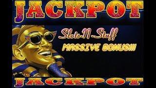 Pharoahs Fortune Massive Bonus Round JACKPOT $375 a pull. • Slots N-Stuff