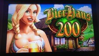 **BIG WIN** BIER HAUS 200 slot machine 30 spins Bonus WIN