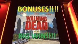 **BONUSES/BIG WIN!!** - The Walking Dead Slot Machine (4 Videos)