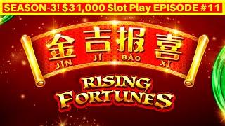 Rising Fortunes Slot Machine Max Bet Live Play | Season 3 | EPISODE #11