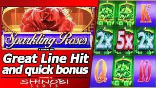 Sparkling Roses Slot - Great Line Hit and Quick Free Spins Bonus
