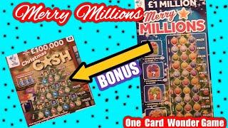 •It's the turn of..•Merry Milions..and Bonus card.•.Christmas Cash.......•Two Card Wonder game•