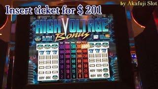 High Voltage Dollar Slot Machine Max Bet $5 at San Manuel Casino