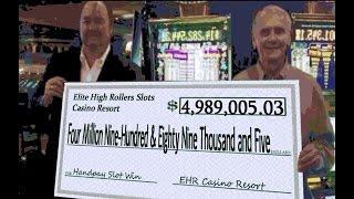 •$4,989,005.03 CASHOUT• Vegas High Roller Casino Video Slot Machine Jackpot Handpay Aristocrat, WMS