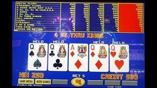 Caesar's Video Poker Four Queens on First Draw