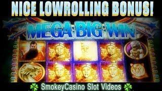Golden Emperor Slot Machine Nice Bonus • WMS