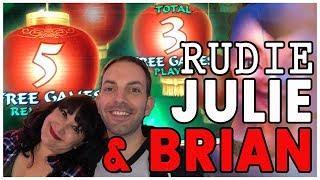 • HIGH LIMIT #RUDIES Member Julie + Brian• • #WINNING • Slot Machine Fruit Machines w Brian C