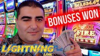 Bonuses On TIKI FIRE Lightning Link Slot ! $1,000 Challenge To Beat The Casino | EP-10