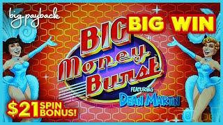 AWESOME NEW SLOT! Big Money Burst Featuring Dean Martin Slot - UP TO $21/SPIN!