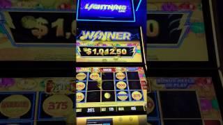 $1000 Hold & Spin LIGHTNING LINK Bonus Round Jackpot $500 MINOR Slot Machine!
